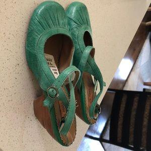 Miz Mooz Mary Jane Wedge Shoe